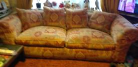 Large sofa and armchair, really good quality.