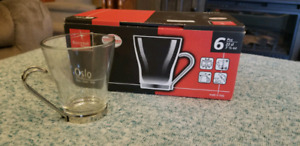 6 Oslo Cappachino Cups Imported from Italy