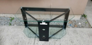 2 Shelfs Glass TV media Stand fits up to 46 in tv