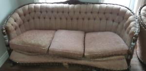 Divan & 2 Sofas antique avec tête de lion