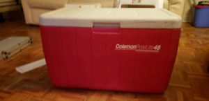 Coleman Cooler with drain