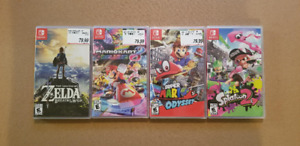 BRAND NEW Switch Games NEUF - Zelda - Mario - Splatoon - Mario K