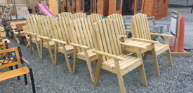Wooden garden seats benches picnic table swing seat