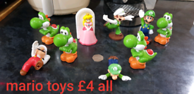 Super mario toys all for £4 smoke and pet free home branston can also