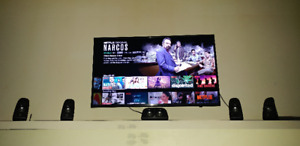 """Samsung 40"""" 4K UHD LED Smart TV  Comes with stand and rem"""