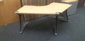 Beech steelcase 2 metre office desks