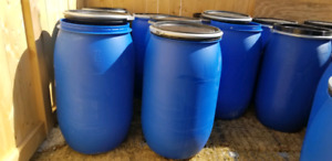 55 Gallon plastic shipping barrels-brampton