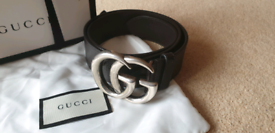 ec438b18ae9 Gucci GG Belt - Brown and Silver Hardware 80cm
