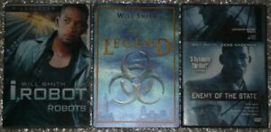WILL SMITH thrillers iROBOT/ I Am Legend/ Enemy Of The State