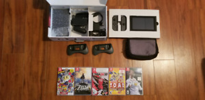 Nintendo Switch Gray Joycons + 5 GAMES and accessories
