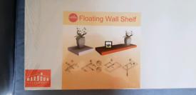 2 Brand new white floating shelves