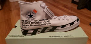 Off-White x Converse Chuck 70 Stripe White Virgil Abloh