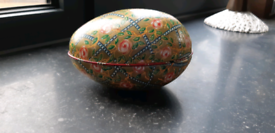 Vintage German Metal Decorative Easter Egg