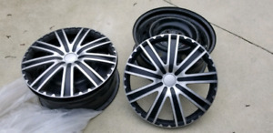 4 Rims with wheel covers 114 x 5 pattern