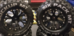 2.8 mounted offroad rc tires 12mm hex traxxas