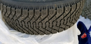 4 winter tires + rims 195/65R15 Very good condition