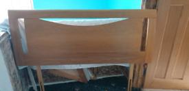 Solid oak double headboard - super condition