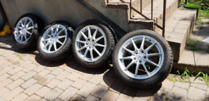 Pirelli Sottozero winter tires 205/50 R17 with mercedes rims