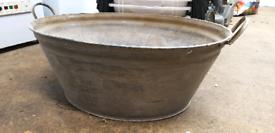 Antique Galvanized Tub