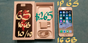 AMAZING GOLD IPHONE 6S 16GB 10/10LIKE NEW+BOX +Charger+plug