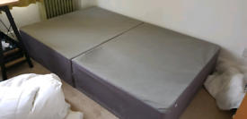 Small double divan bed