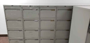 Large upright filing cabinets - like new. Asking $75.00 obo