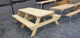 Ex-large wooden garden picnic tables very strong