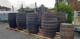 Ex large oak barrels 500lt butt barrels half barrel planters
