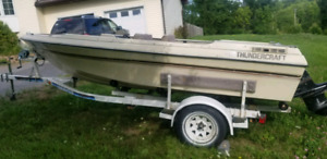 Boat trailer, with old Thundercraft