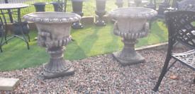 Large stone garden pot planters urns statues