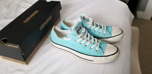 Unisex light blue converse shoes