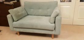 Dfs poet cuddler sofa, ONO