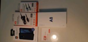 Neuf Samsung Galaxy A8 et accessoires