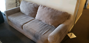Set of 3 Beige/Gray Fabric Couch, Love Seat & Arm Chair For Sale