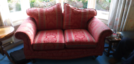 Settee ,chair, and foot stool.