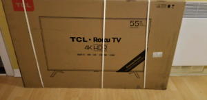 Brand new 55 inch 4K HDR TCL Smart Roku TV