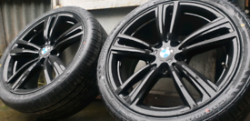 """**19"""" BMW M ALLOY WHEELS STAGGERED PCD 5X120 GLOSS 1 2 3 4 5 6 7 8 SER"""