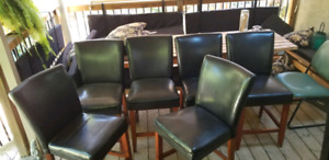 Set of 6 Counter Height Leather Chairs $240