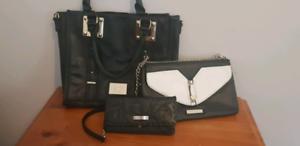KK handbag, clutch and Ripcurl wallet
