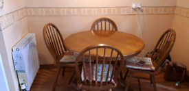 Kitchen table (oak) and 4 chairs, used for sale  Tain, Highland