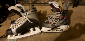 Hockey skates 9.5 and 7.5