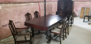 Antique 9 piece dining room set 50+years old