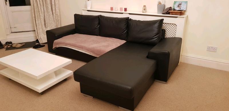 Tremendous Black Corner Sofa In Clifton Bristol Gumtree Forskolin Free Trial Chair Design Images Forskolin Free Trialorg