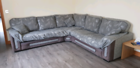Large corner sofa with 3 seater sofa included