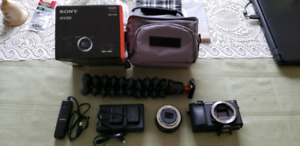 Sony Alpha a6300 4k Mirrorless body w/lens + Accessories!