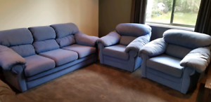 Lounge suite couch and chairs