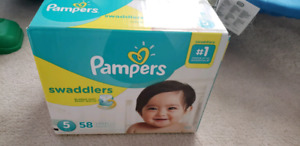 Pampers Diapers - Size 5 Swaddlers