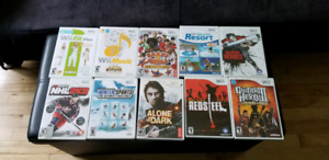 Many wii games / jeux