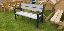 Heavy duty plastic garden bench seat. Not rutting no painting needed