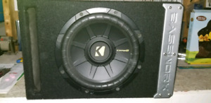 "10"" kicker sub and box"